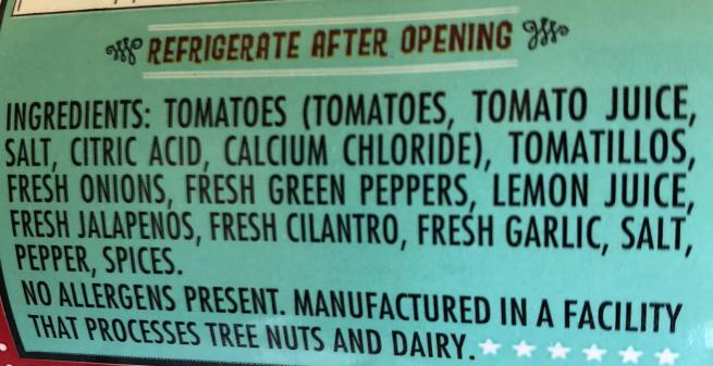 crenshaws mild ingredients
